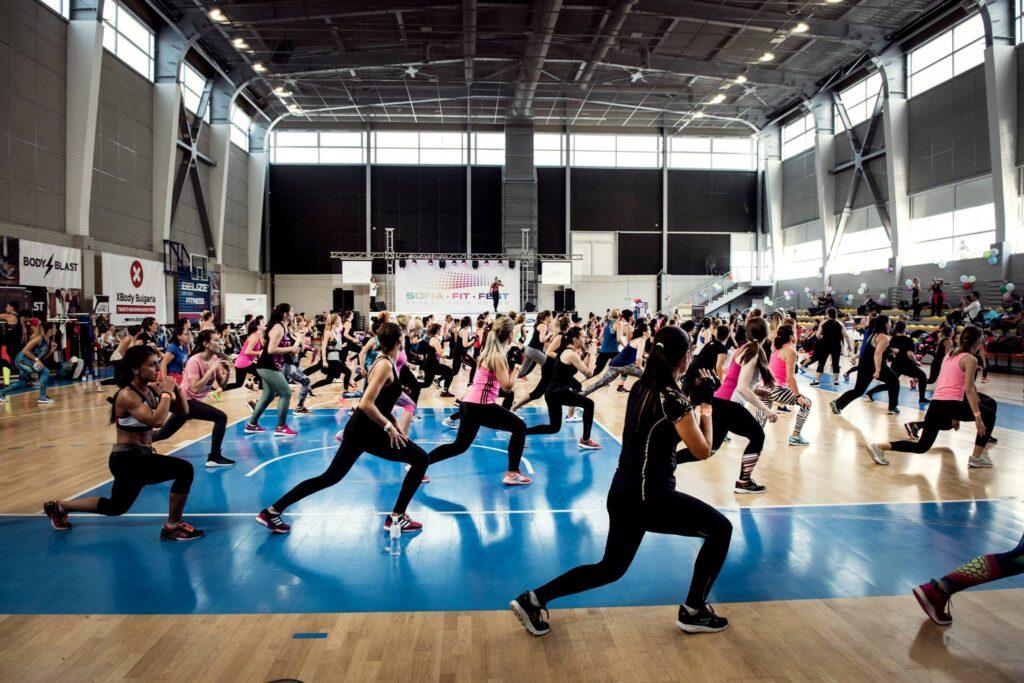 Хора които тренират на Sofia fit fest 2018